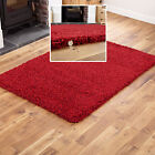 RED SMALL TO X EXTRA SOFT MODERN RUG THICK 5CM HIGH PILE NON-SHED SHAGGY RUGS