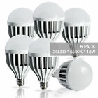 NEW 36 LED Day Light Flood Bulbs E26 110V 18W 5500K 1300lm Daylight 2-6PACK VIP