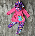 Girls My Little Pony Dress Leggings and Scarf Outfit Set Sizes 2T 3T 4T 5 6 7 8