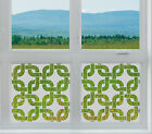 Etched Glass Window Film FROSTED EFFECT twisted rings 1 modern contempory home