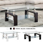 Modern Rectangle Coffee Table End Side Table with Shelves Li