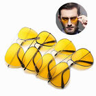 Fashion Classic Pilot Sunglasses Yellow Colored Lens Night Driving Unisex