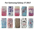 For Samsung Galaxy J7 2017 Newest 3D Painted Leather Wallet Phone Case Cover