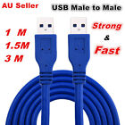 New 1m 1.5m 3m USB 3.0 Connection Super Speed Data Cable Type A male to A male