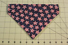 DOG BANDANA Over Collar XS-L PATRIOTIC Red/White/Blue STARS FLAGS 4th July