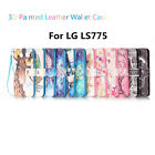 Hot Sales Fashion 3D Painted Leather Wallet Case Protector Cover For LG LS775