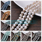 """1 Strand 8mm 10mm 12mm Faceted Natural Stone Gemstone Round Beads Jewelry 15"""""""