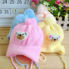 Baby Toddler Infant Kids Girl Boy Winter Warm Crochet Knit Bear Hat Beanie Cap