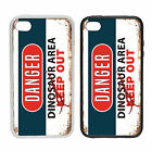 WTF | Danger - Dinosaur Area | Rubber or plastic phone cover case | #2 Keep Out