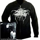 Darkthrone A Blaze In Northern Sky Zip Hoodie M L XL XXL Hooded Sweatshirt Hoody