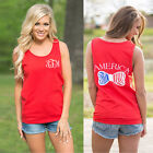 Fashion Womens Summer Vest Tops Sleeveless Shirts Blouse Casual Tops T-Shirt Red