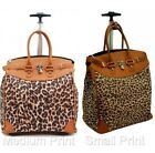 Rolling Fashion Travel Luggage Foldable Carry-on Leopard 14