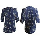 EX DOROTHY PERKINS Navy Blue Floral Blouse Top Sizes 8,10,12,14,16,18,20