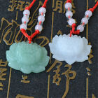 1/2PCS Natural Jade Lotus Necklace Pendant Fashion Lucky Carved Charm Xmas Gift