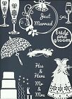 LOTS 5 - 90 PCS. SUB-SETS WEDDING-2 DIE CUTS* *READ* BRIDE GROOM CAKE GOBLET BOW