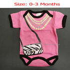 Newborn Baby Girl Short Sleeve Infant T-shirt Outfits Clothes Size: 0-3 months