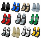yellow car seat covers - 2 Car Seat Covers Vinyl Leather SUV VAN Auto Universal 859