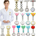 Stainless Steel Nurse Watch Tunic Fob Clip On Pocket Quartz Butterfly Smile Face