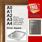 A0 A1 A2 A3 A4 PREMIUM Aluminum Snap poster frame Sign holder wall mount Wood