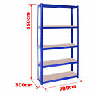 Heavy Duty Metal 5 Tier Boltless Shelving Racking in Blue Red Black Grey Colour <br/> ☆ Top Quality ☆ UK Seller ☆ Free UK Mainland Delivery ☆