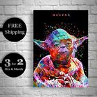 Star Wars Yoda Poster - Starwars Print - A3 A4 Posters - Abstract Giclee Prints £4.75 GBP