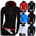 Popular Design Men's Casual Hoodie T-Shirts New Slim Fit Long Sleeve Tee Shirts