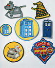 Dr Who embroidered patch iron or sew on to clothing or bags