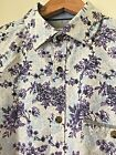 "M&S AUTOGRAPH Men's Cotton Shirt Formal Casual Floral Stripes S M L 16"" 17"" NEW"