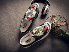 mens slip on printed flat heel breathable loafers driving shoes comfortable