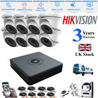 Hikvision CCTV HD 1080P 2.4MP Night Vision Outdoor DVR Home Security 8ch Kit