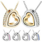 Wholesale Fashion Women Hollow Heart Necklace Pendant Chain Statement Jewelry