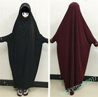 Abaya Muslim Women Hooded Dress Kaftan Islamic Arab Long Sleeve Loose Maxi Cloth