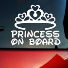 Внешний вид - PRINCESS ON BOARD Baby Child Window Bumper Car Sign Decal Warning Sticker