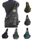Men's Women's Sling Messenger Chest Bag Shoulder Backpack Travel Oxford student