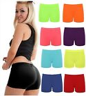 Ladies Neon Hot Pants Shorts Girls Cycling Stretch Gym Dance Fancy Dress Party