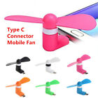 Type C Plug Portable Cell Phone Mini Fan Cooler for Samsung Galaxy S8 S8+ lot