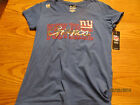NEW YORK GIANTS NFL 1ST AND FASHION BY TEAM APPAREL WOMENS BLING SHIRT M-L-XL $9.0 USD on eBay
