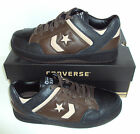 CONVERSE Men's Weapon Euro Ox Black & Brown Leather Trainers Shoes Size 8.5