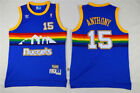 NWT Denver Nuggets Carmelo Anthony #15 Blue Classic Throwbacks Jersey Men's