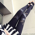 Fashion Women High Waisted Floral Lace Stretch Skinny Pants Slim Tight Leggings