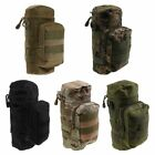 Militray Tactical Molle Zipper Water Bottle Hydration Pouch Bag Carrier Hiking