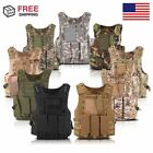 Tactical Military SWAT Police Airsoft Molle Combat Assault Plate Carrier Vest AS