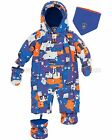 Deux par Deux Baby Boys' 1-Piece Mechant Look Blue, Sizes 12-24M