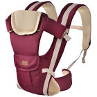 Ergonomic Baby Carrier Cotton & Polyester 4 Carry Positions for Infants