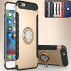 for iPhone 6 7 8 Plus 5 S Case 360 Rotating Ring PC + TPU Kickstand Phone Cover