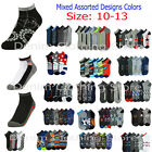 Men Casual Mixed Assorted Designs Color Ankle Low Cut Socks Wholesale Lot 10-13