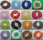 10Yards Genuine round Leather cord Cowhide 1MM 1.5MM 2MM 3MM 18colors U PICK
