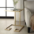 Carolina Cottage Royce Modern Glass Top Accent Table
