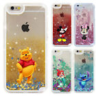 3D Cute Disney Liquid Shell Quicksand Cover Case For iPhone X6 7 8 Samsung S8 S9
