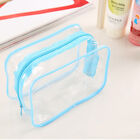 Clear Transparent Plastic PVC Travel Makeup Cosmetic Toiletry Zip Bag Pouch   FO